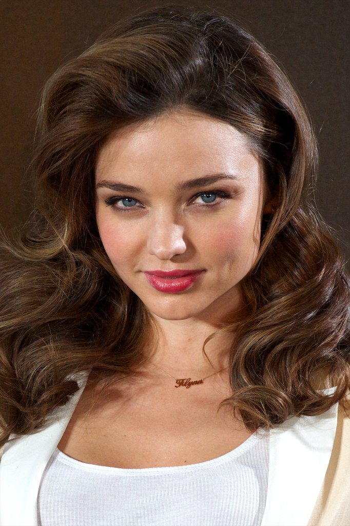 Miranda Kerr posed for photos in Madrid.