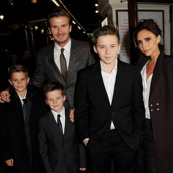 The Beckham Family at Spice Girls Press Event in London