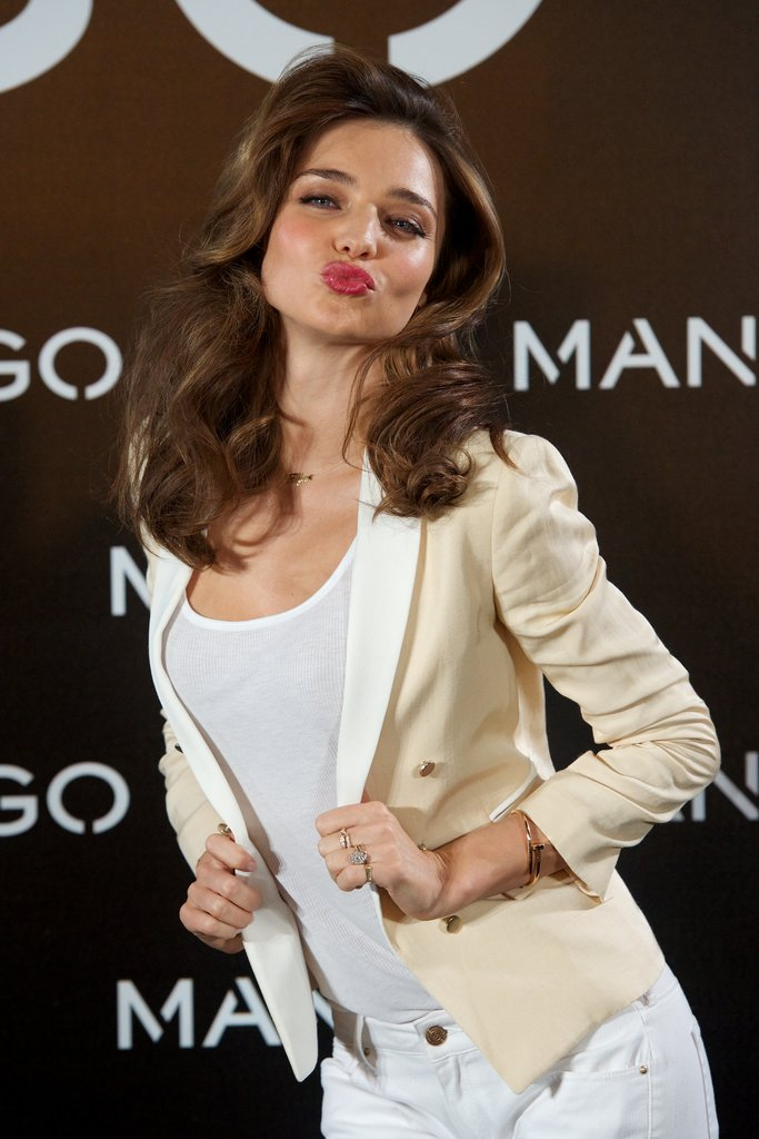 Miranda Kerr stepped out in Madrid for a Mango event.