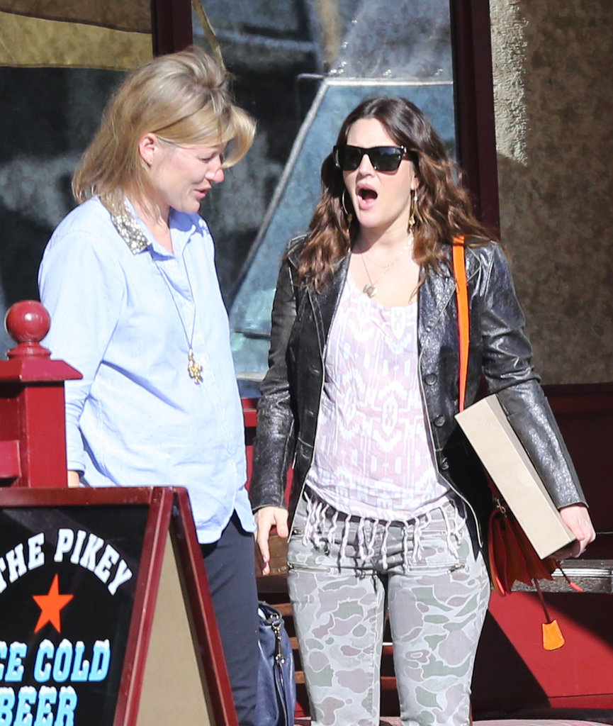 Drew Barrymore had lunch with a friend in LA.