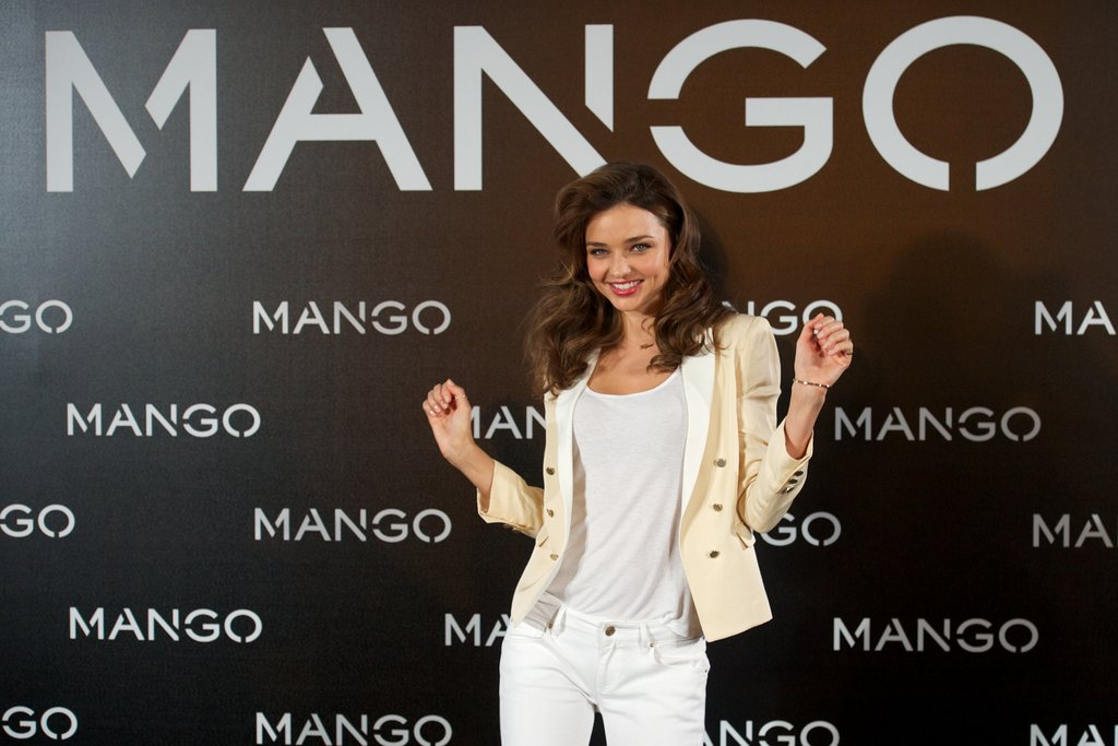 Miranda Kerr was on stage at a Mango event in Madrid.