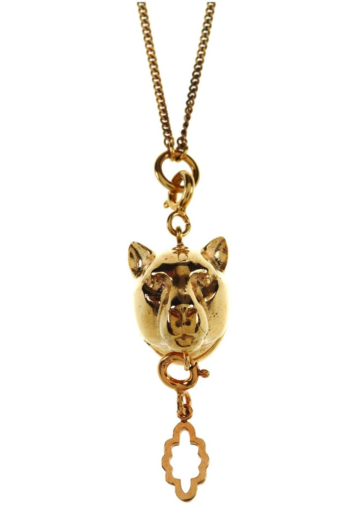 Panter charm necklace, $125