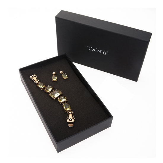 Citron earrings and bracelet gift set, $185, Peter Lang