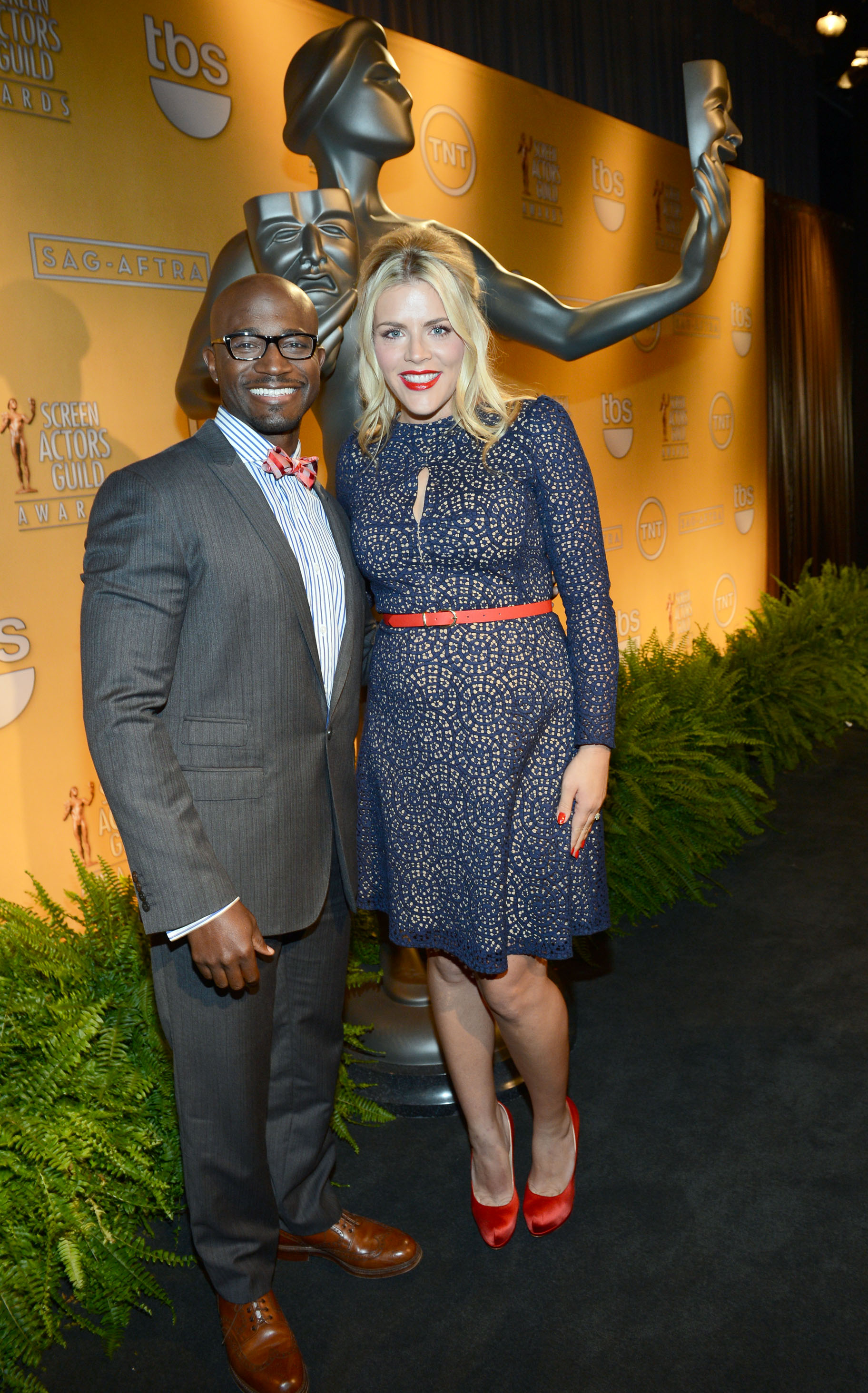 Taye Diggs and Busy Phillips smiled at the LA event.