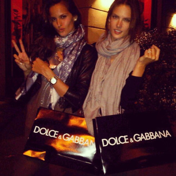 Izabel Goulart and Alessandra Ambrosio shopped together at Dolce & Gabbana. Source: Instagram izabel_goulart