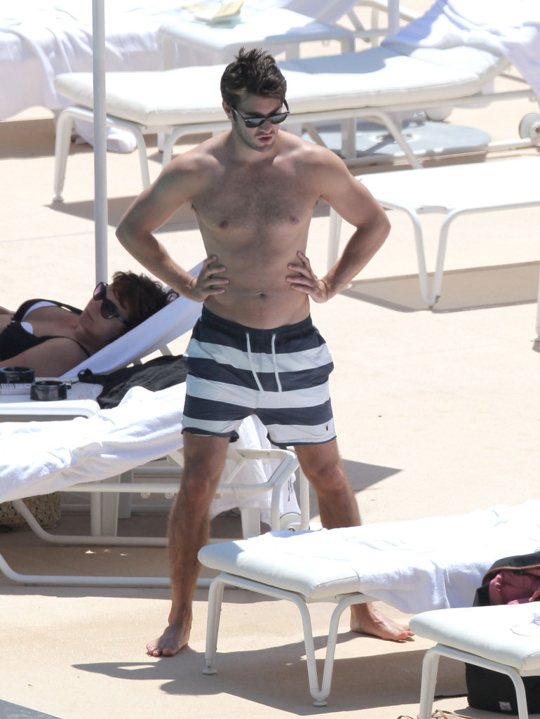 Revenge star Josh Bowman showed his abs during a day on the beach in Monaco this June.