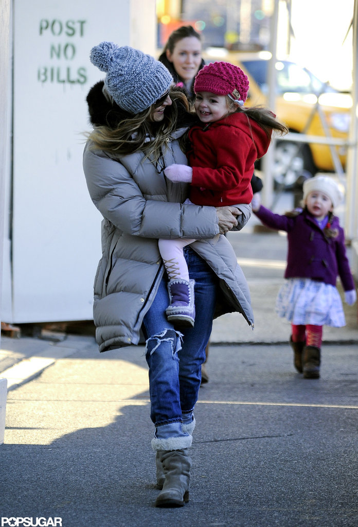 Sarah Jessica Parker and Tabitha Broderick were all smiles in NYC.