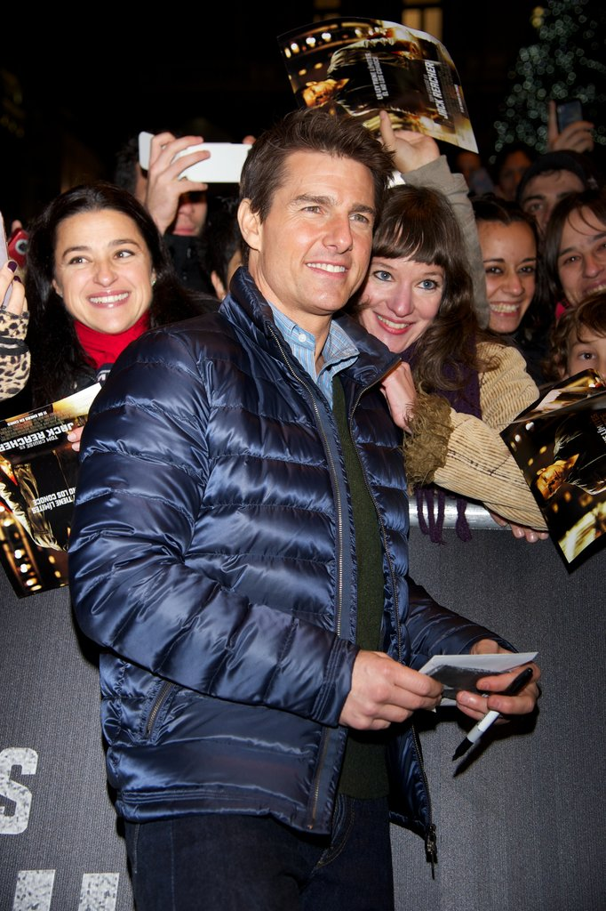 Tom Cruise and Rosamund Pike Make Their Mark in Madrid
