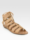 With an upcoming trip to Costa Rica, I've got Resort wear on my mind. These Loeffler Randall Skye Leather Gladiator Sandals ($225) would be my footwear of choice. Perfectly supple leather, leg-elongating nude hue — I can think of no better shoe to vacation in style. 