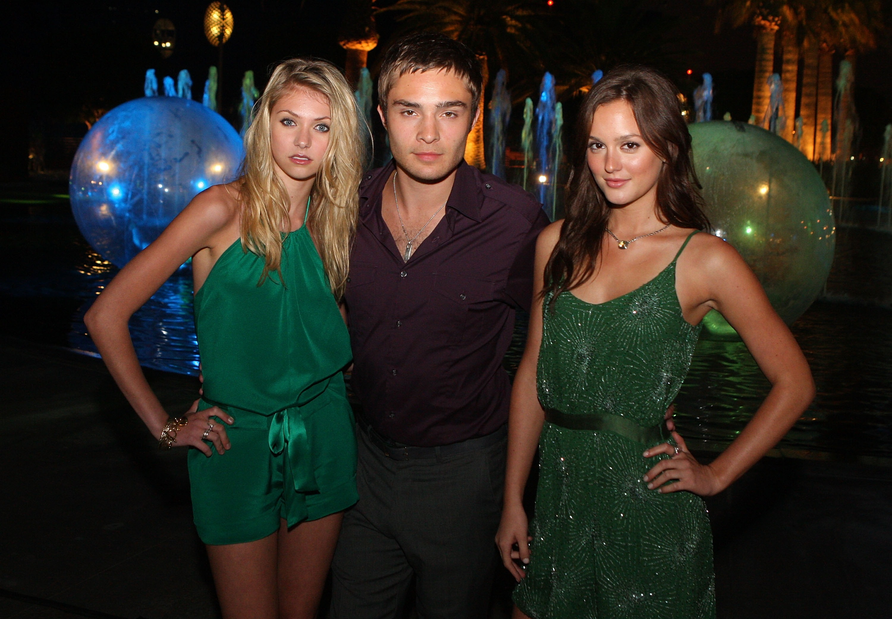Ed Westwick found himself surrounded
