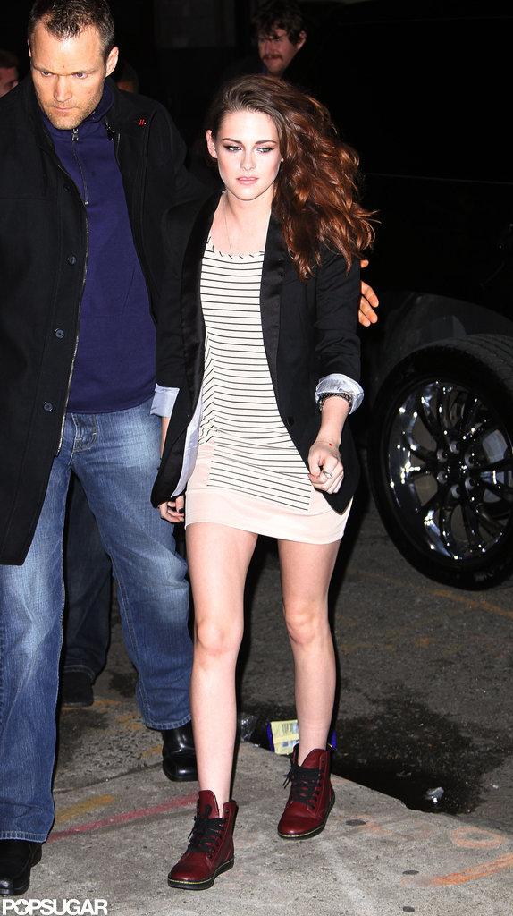 Kristen Stewart filmed an interview for The Daily Show.