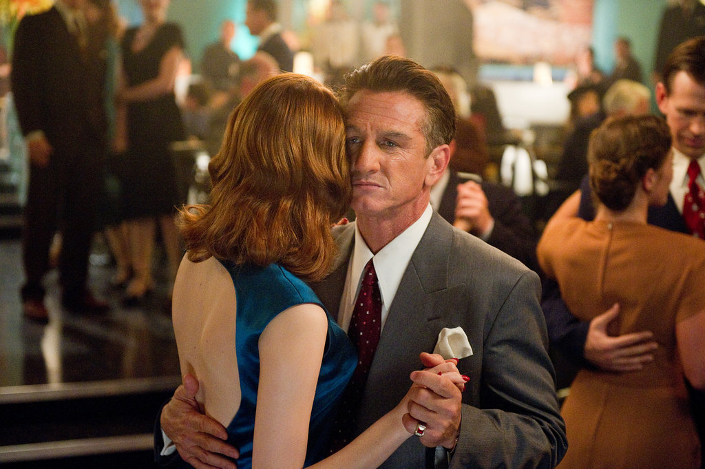 Emma Stone and Sean Penn in Gangster Squad.