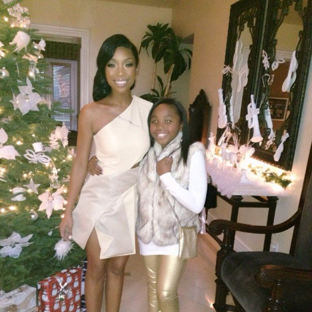 Brandy and her daughter posed together before heading to the VH1 Divas concert. Source: Instagram user 4everbrandy