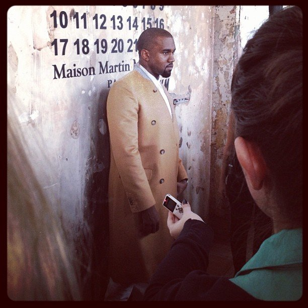 Kanye West was one of many celebs we spotted at the launch party for Maison Martin Margiela for H&M.