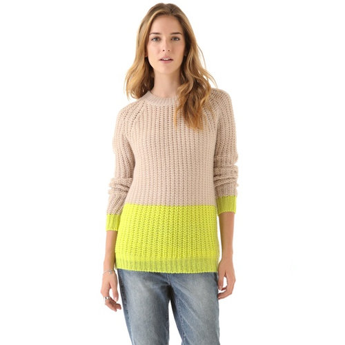 Contrast this Madewell Olivia colorblocked pullover ($69, originally $98) with a black pencil skirt and pumps for a refreshing take on office attire.