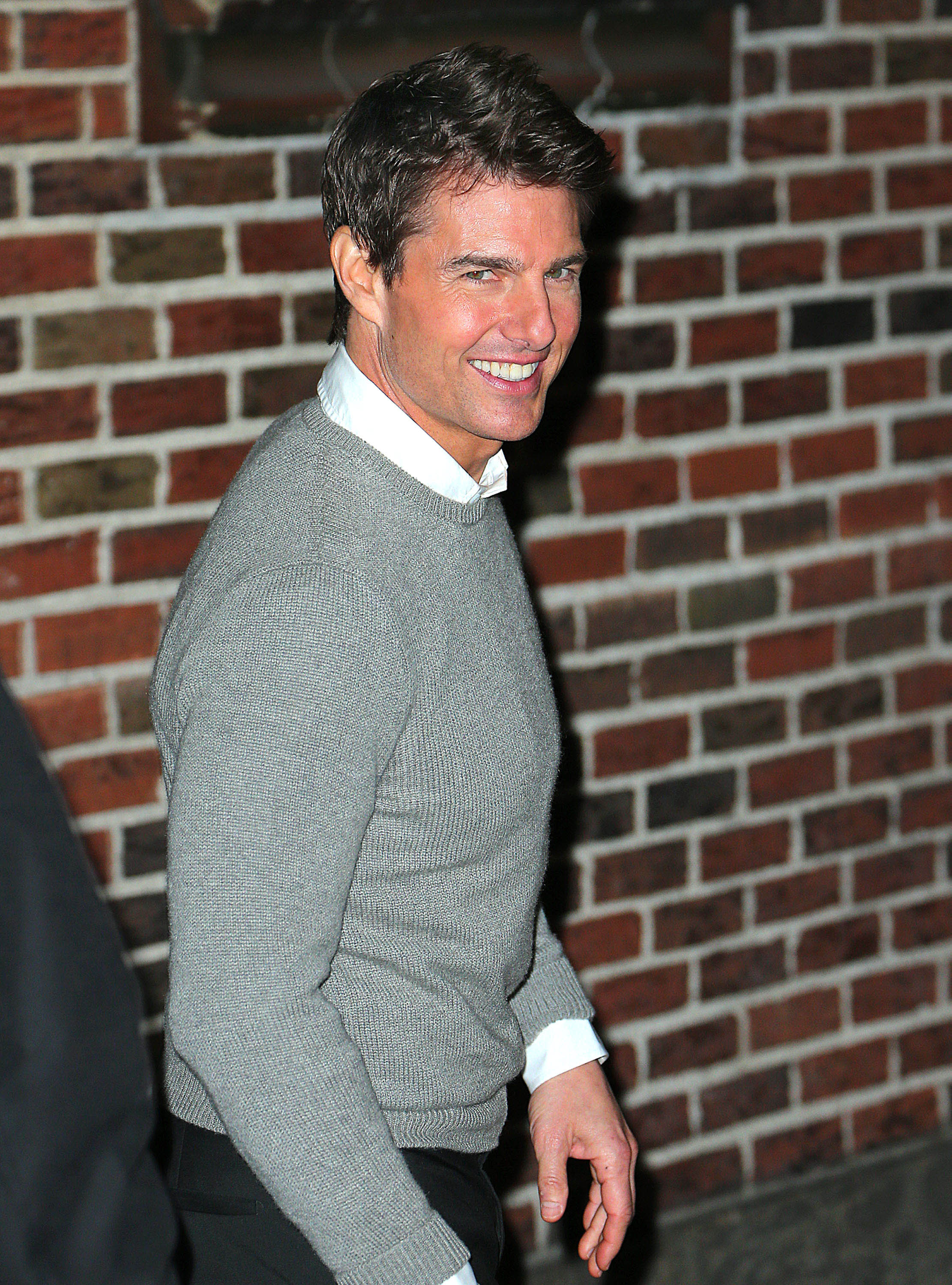 Tom Cruise was promoting his new movie.