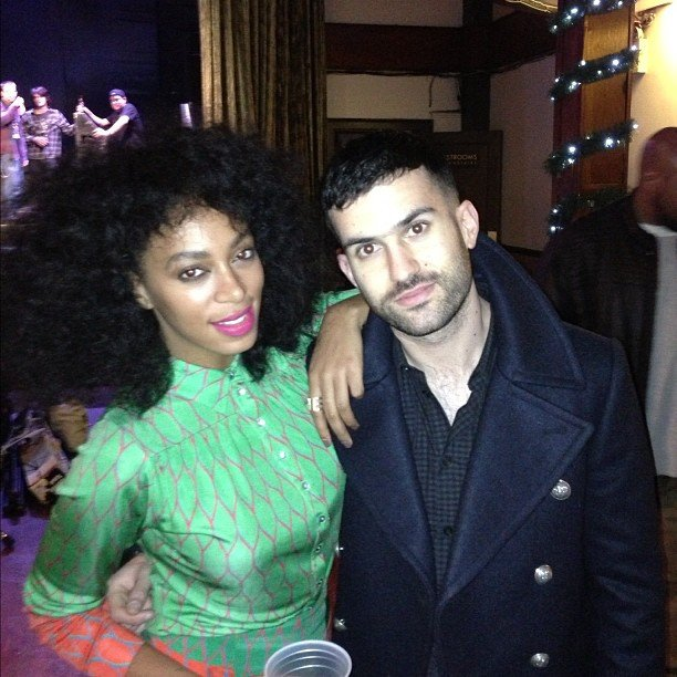 Solange Knowles celebrated after performing a show. Source: Instagram user atrak