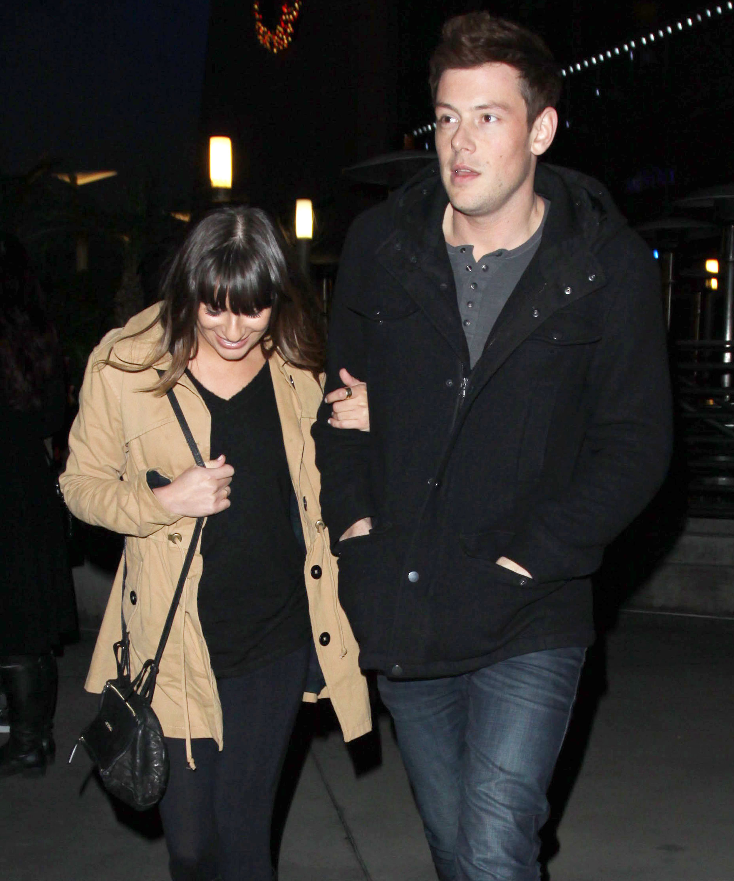 Lea Michele and Cory Monteith had a date night in Hollywood.