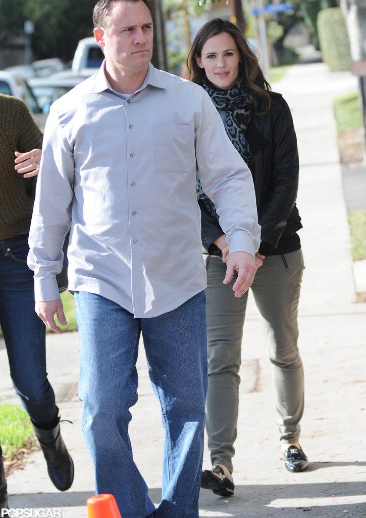 Jennifer Garner stopped by an LA studio.