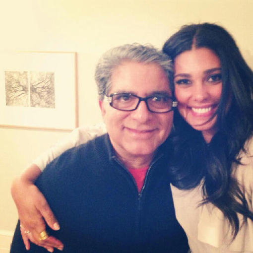 Rachel Roy attended an event with Deepak Chopra. Source: Twitter user Rachel_Roy