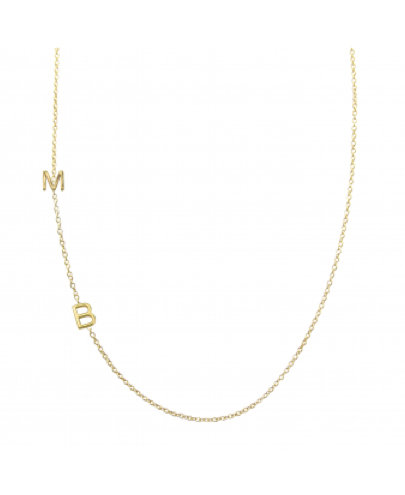 Maya Brenner Asymmetrical Letters Necklace