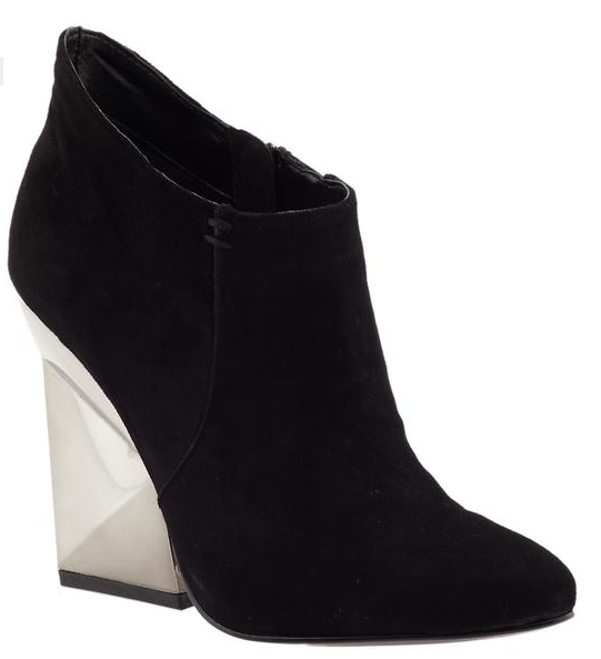 These Dolce Vita Kemp Booties ($179) will pair perfectly against black tights — with that wedged metallic heel providing a glitzy contrast.