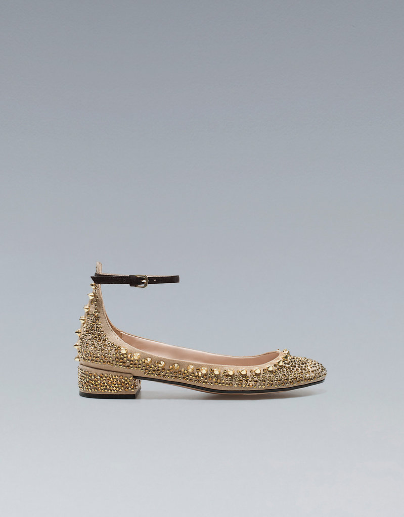 These Jeweled Zara Ballerina Heels ($90) bring the glamour without bringing the pain.