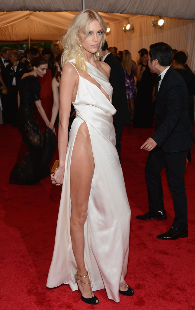 Anja Rubik made her hip famous on Met Gala night with this very revealing Anthony Vaccarello dress.