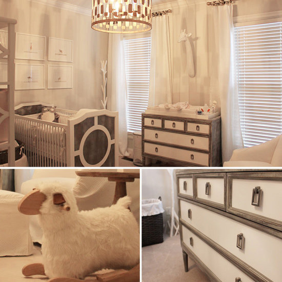 Nurseries: A Soothing Gray-and-White Nursery For a Baby Girl