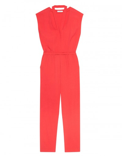 Sandro's chic red jumpsuit ($238, originally $340) can easily pair with flats for a festive night yet is still very comfortable for a low-key NYE.
