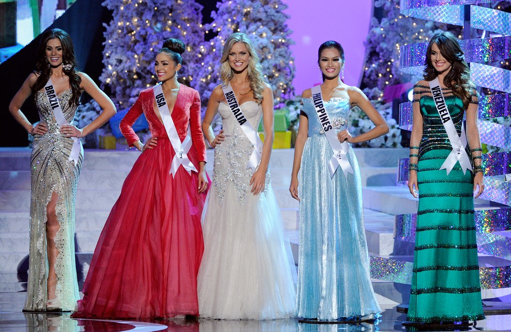 Miss Brazil, Miss USA, Miss Australia, Miss Philippines and Miss Venezuela
