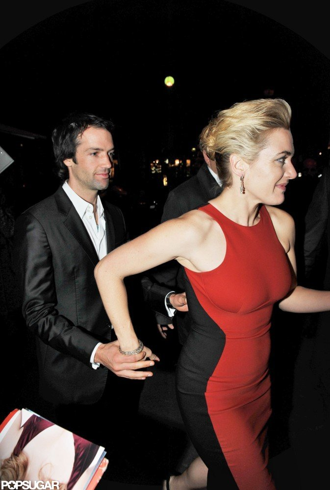 Kate Winslet and Ned Rocknroll dressed up for a Paris premiere in November 2011.