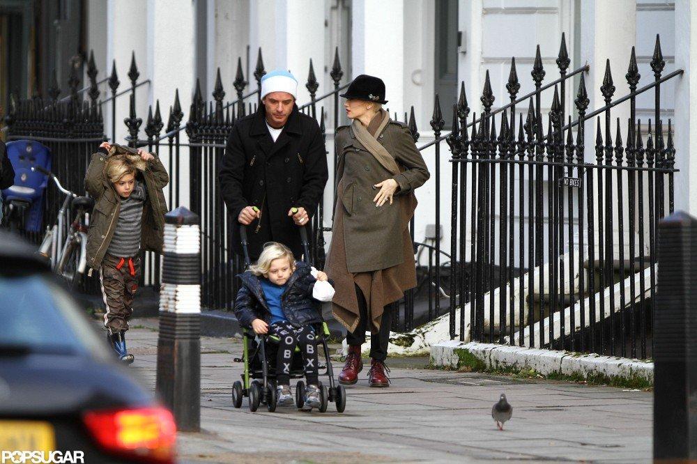 Gwen Stefani took a stroll with her boys.