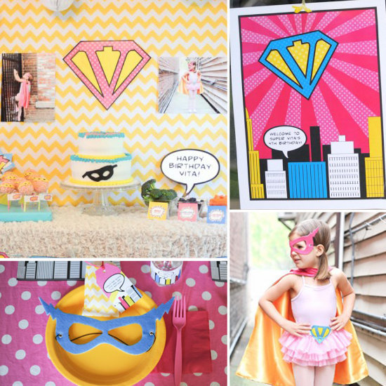 Anders Ruff Vintage Superhero Party Printables