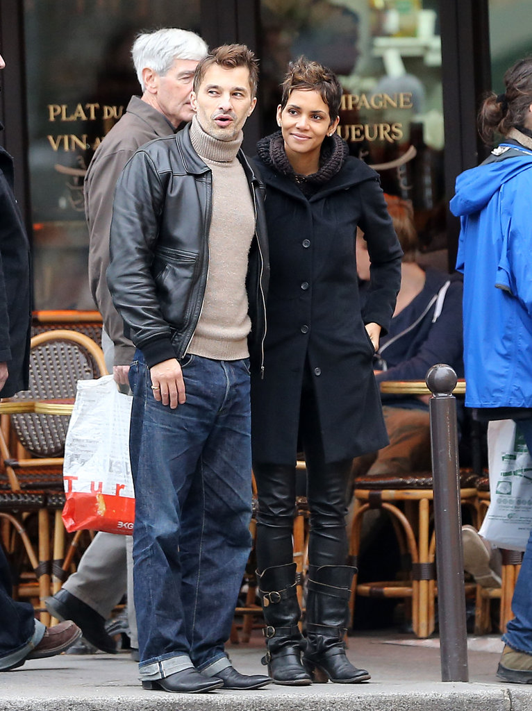Halle Berry and Olivier Martinez ventured out onto the streets of Paris during a getaway in December 2012.