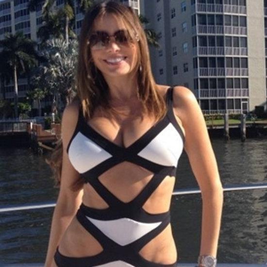 Sofia Vergara Wears Cutout Swimsuit