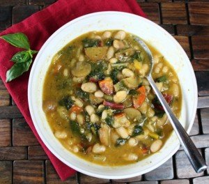 White Bean Pesto Soup - Vegan