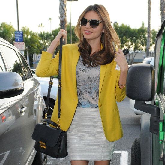 Miranda Kerr Wearing Yellow Blazer