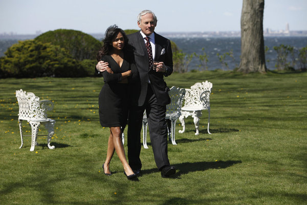 Meagan Good and Victor Garber in Deception.