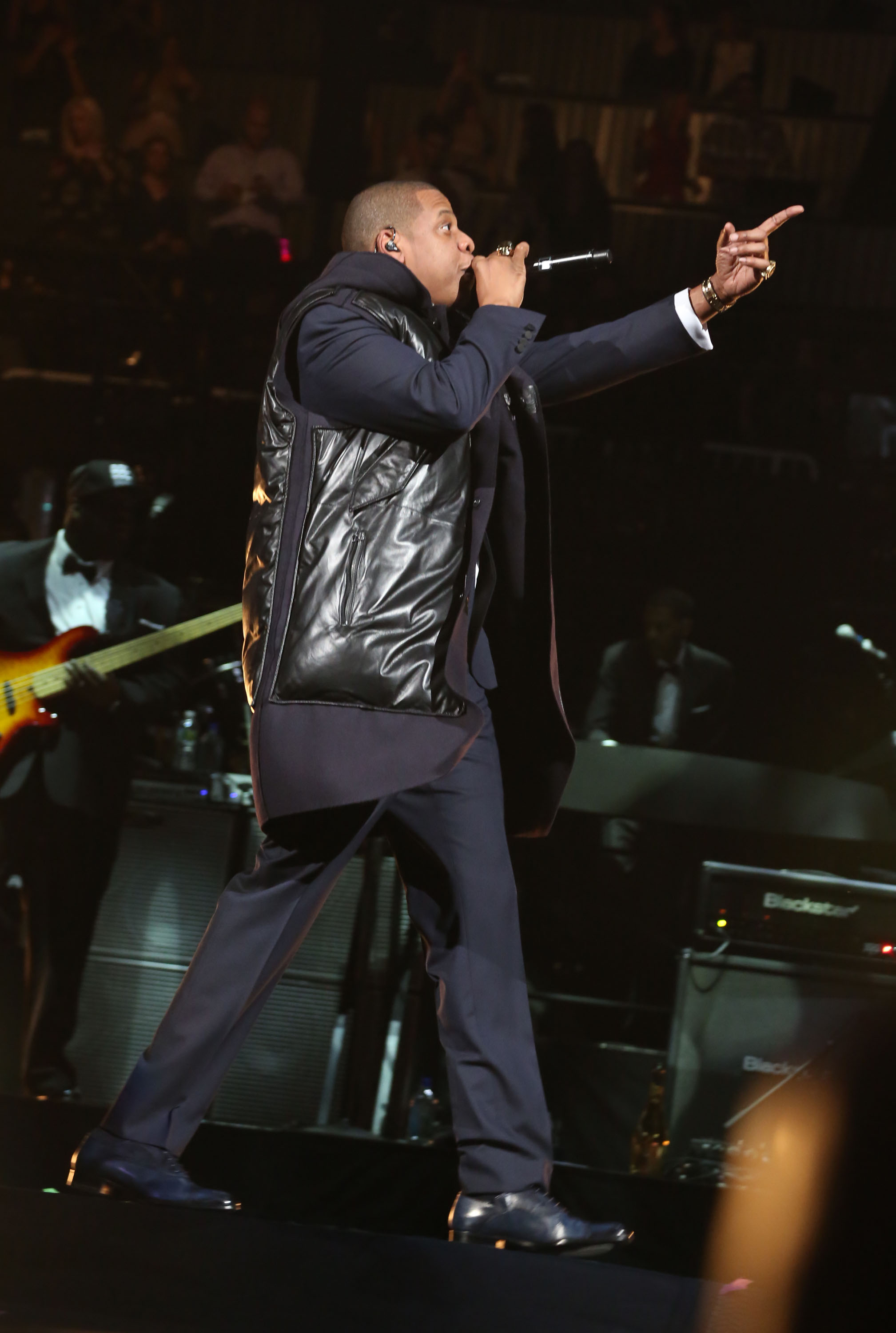 Jay-Z and Coldplay performed a joint concert in Brooklyn.