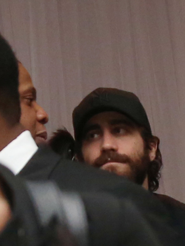 Jake Gyllenhaal chatted with Jay-Z backstage.