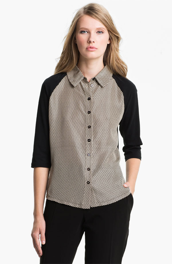 This Max Mara contrast-sleeve blouse ($195) may be described as weekend wear on Nordstrom's website, but we think it'll be just as fabulous at work with black skinny jeans and lace-up booties.