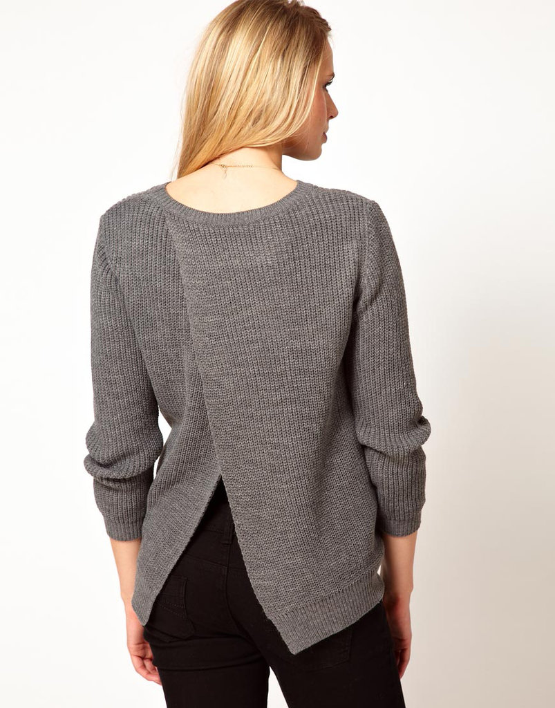ASOS Rib Sweater With Split Back