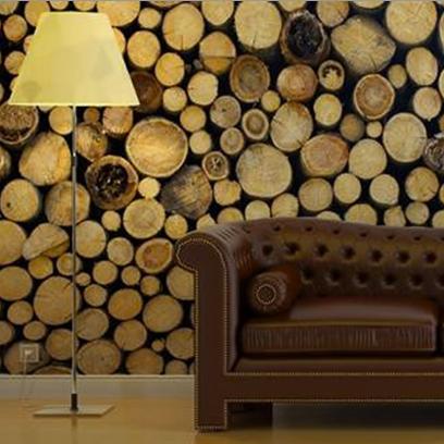 Wooden Logs Wall Art