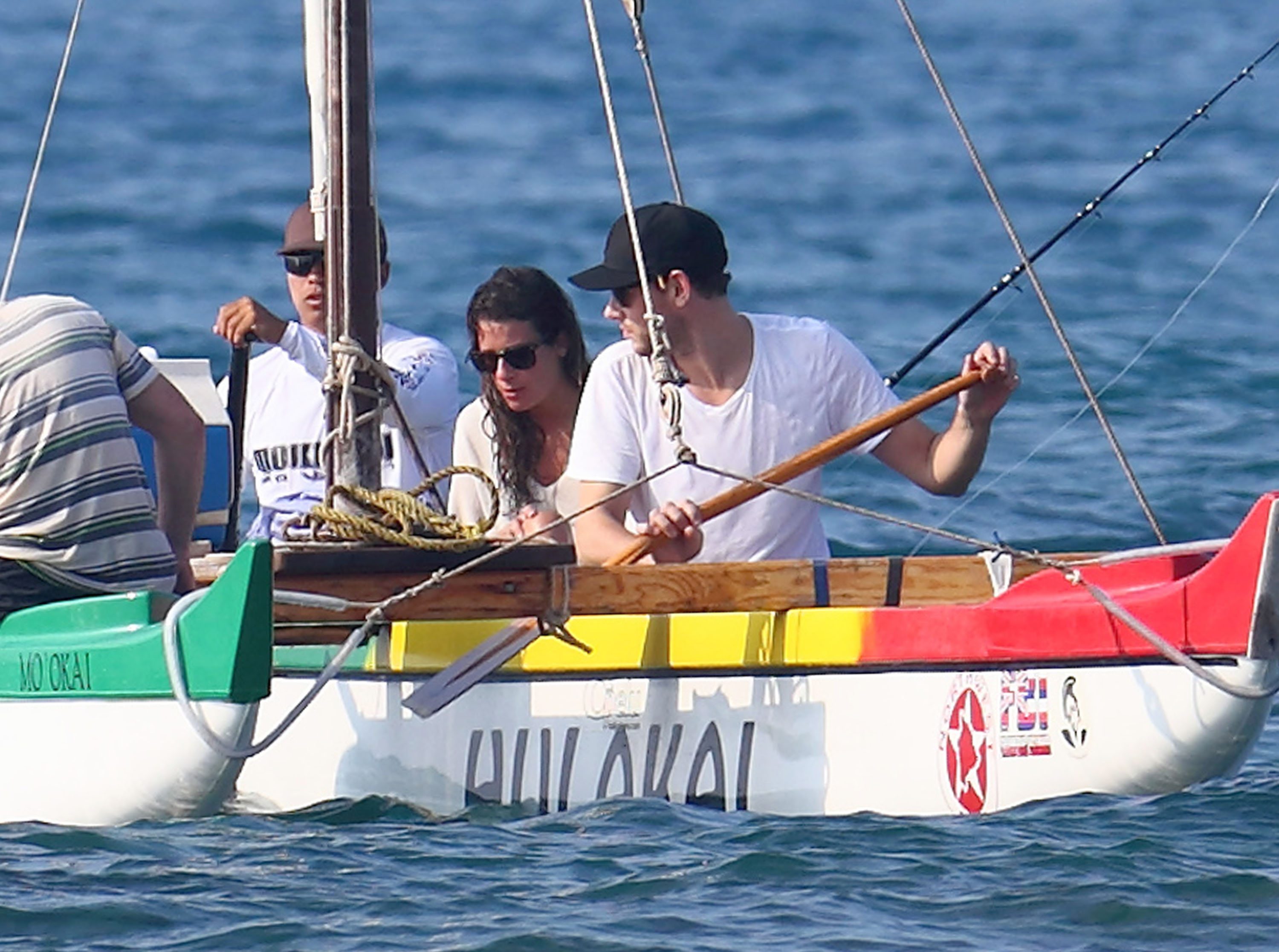 Lea Michele and Cory Monteith spent time together in a boat in Hawaii.