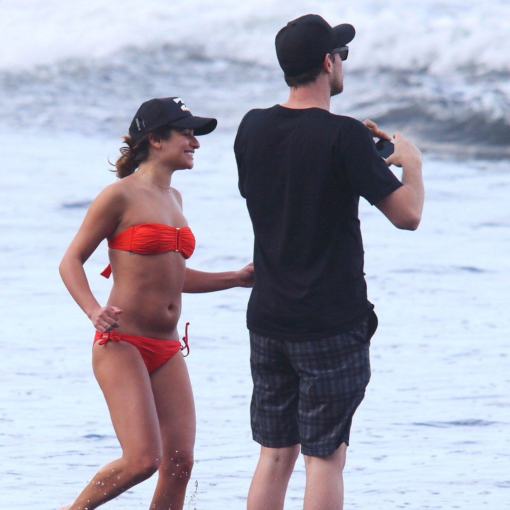 Lea Michele and Cory Monteith spent time on the beach in Hawaii.