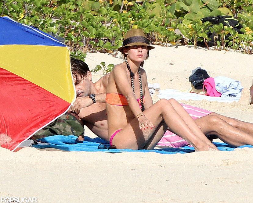 Olivia Palermo looked chic in an orange bikini.