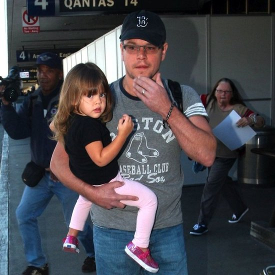 Matt Damon Holding Stella Damon at LAX | Pictures