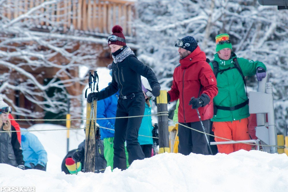 Jason Statham and Rosie Huntington-Whiteley spent time together in the French Alps.