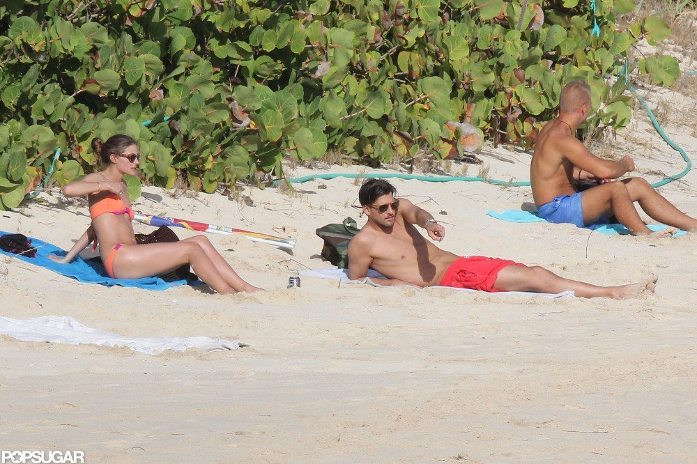 Olivia Palermo and boyfriend, Johannes Huebl, spent time together at the beach together in St. Barts.